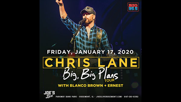 None - Win Tickets: Chris Lane at Joe's Live on 1.17.20!