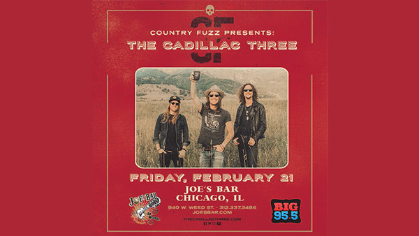 None - Win Tickets: The Cadillac Three at Joe's on Weed St. on 2.21.20