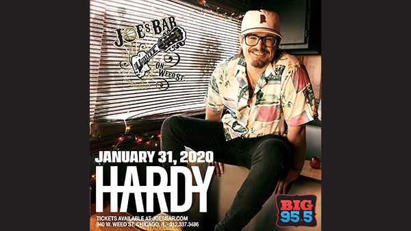 None - Win Tickets: HARDY on 1.31.20 at Joe's on Weed St.
