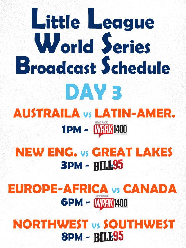 None - 2019 Little League World Series Broadcast Schedule