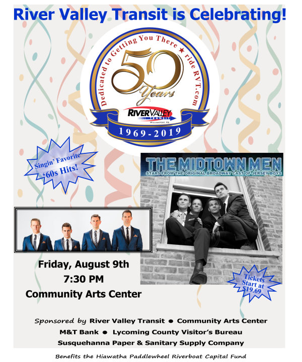 None - River Valley Transit is Celebrating 50 Years with The Midtown Men!