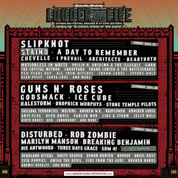 None - Louder Than Life Tickets