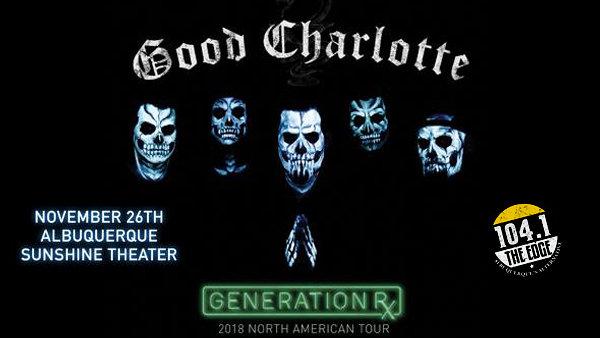 Win Good Charlotte Tickets