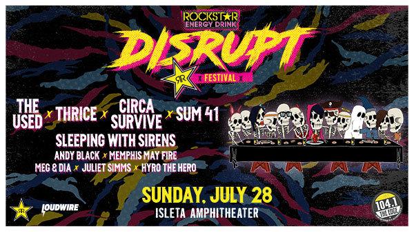 Win Rockstar Energy Drink DISRUPT Festival Tickets