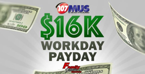 None - Win $1000 With The $16K Workday Payday