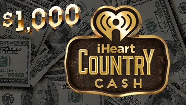 None - $1,000 iHeartCounty Cash