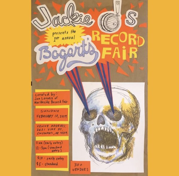 None - Win a pair of tickets to Jackie O's present Bogart's Record Fair!