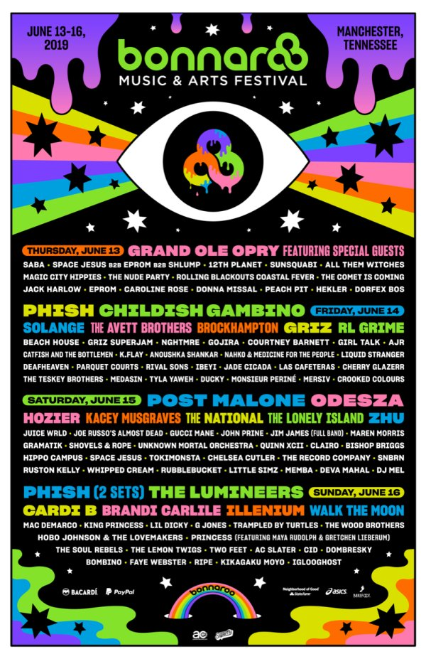 None - Win a pair of weekend passes to Bonnaroo Music & Arts Festival 2019!