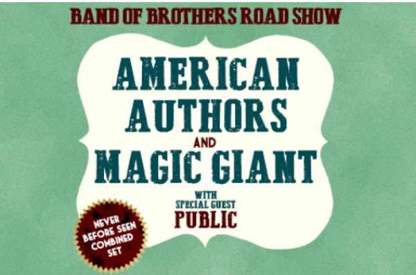 None - Win a pair of tickets to see American Authors and Magic Giant on FEB 20th!