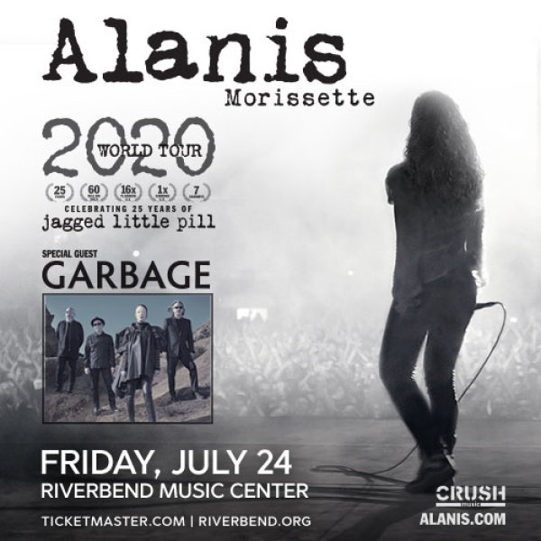 None - Win tickets to see Alanis Morissette at Riverbend Music Center!