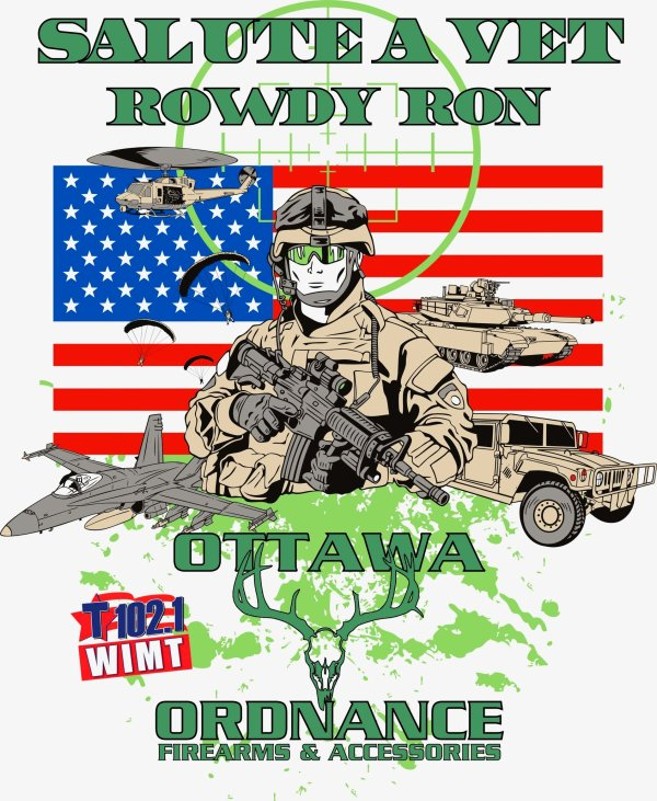 None - T102 Salute A Vet with Rowdy Ron