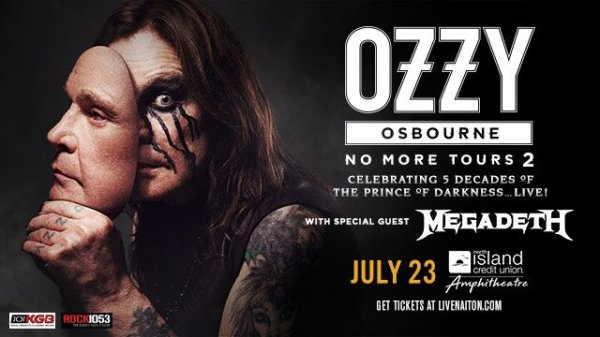 None - Win Ozzy Osbourne with Megadeth Tickets