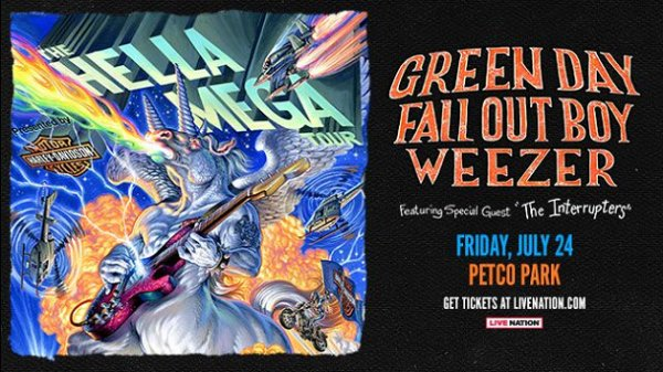 None - Win tickets to Green Day / Fall Out Boy / Weezer at Petco Park