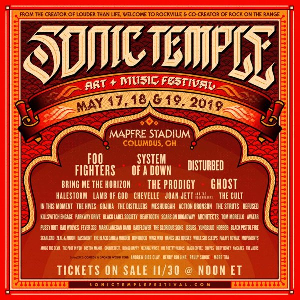 None - Win a pair of weekend passes to Sonic Temple 2019!