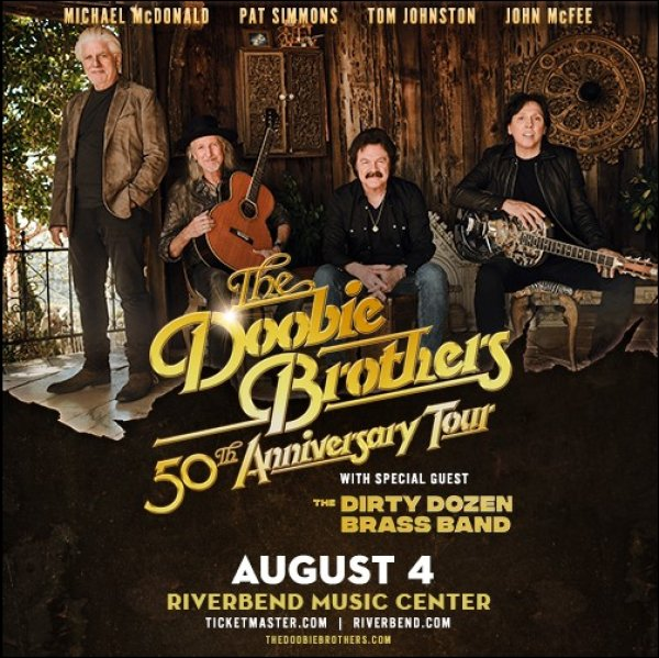 image for Win a pair of tickets to The Doobie Brothers 50th Anniversary Tour!
