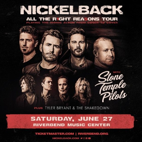 image for Win tickets to see Nickelback @ Riverbend Music Center