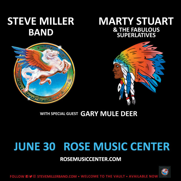 image for Win tickets to see Steve Miller Band @ Rose Music Center