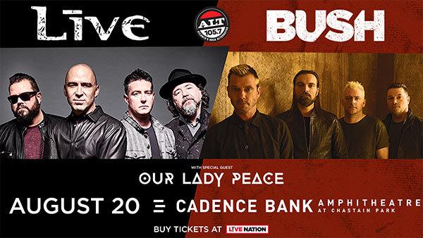 None -         Enter to Win Live & Bush Tickets!