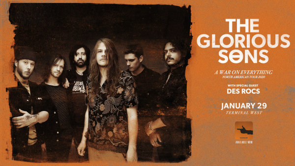 None - Win tickets to The Glorious Sons!