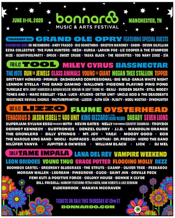 None - Win tickets to Bonnaroo Music & Arts Festival 2020!