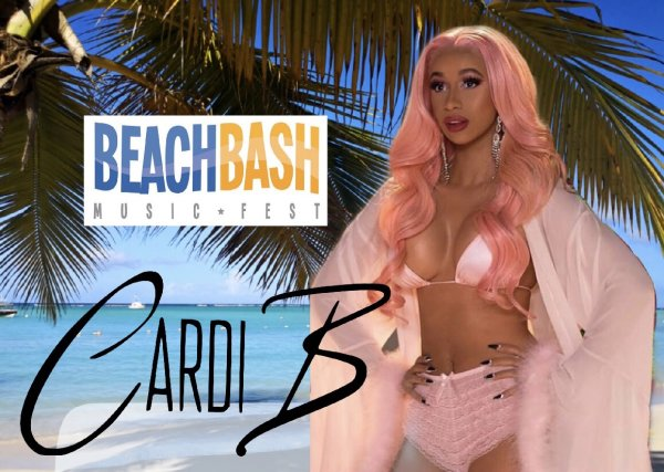 None - Cardi B at BEACH BASH!