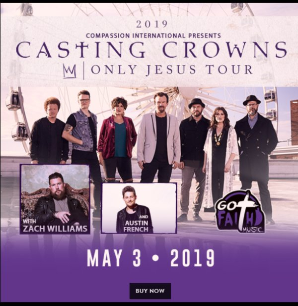 None - Register to win free tickets to see Casting Crowns!