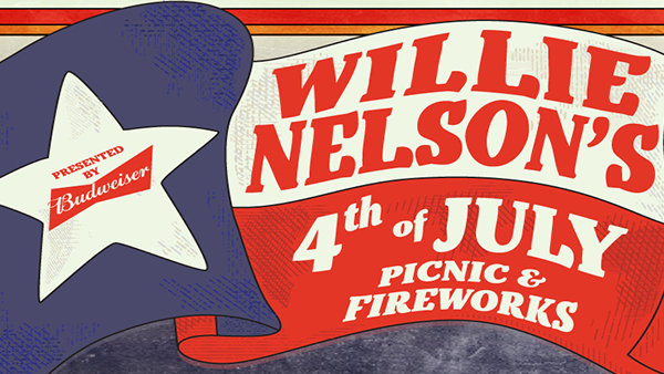 None - Enter For A Chance To Win Tickets To Willie Nelson's 4th of July Picnic & Fireworks!