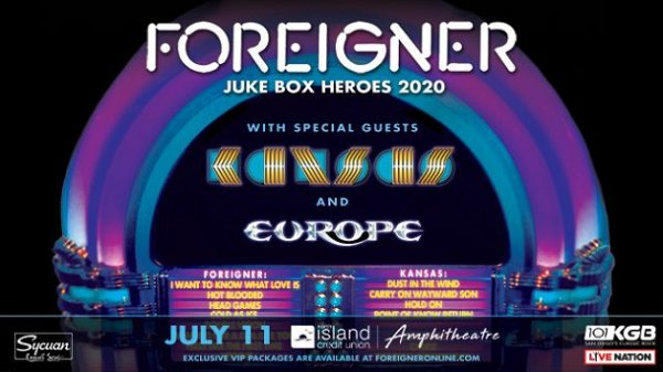 None - Win tickets to KGB Presents: Foreigner + Kansas