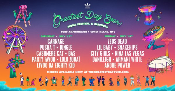 None -  Enter For A Chance To Win A Pair Of 2-Day Passes To The Greatest Day Ever Music Festival And Carnival!