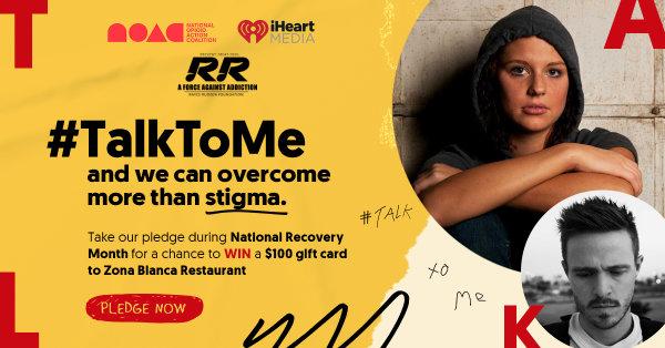 None - Take the #TalkToMe Pledge
