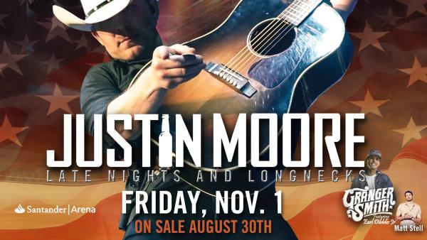 None - Justin Moore at Santander Arena - November 1st!