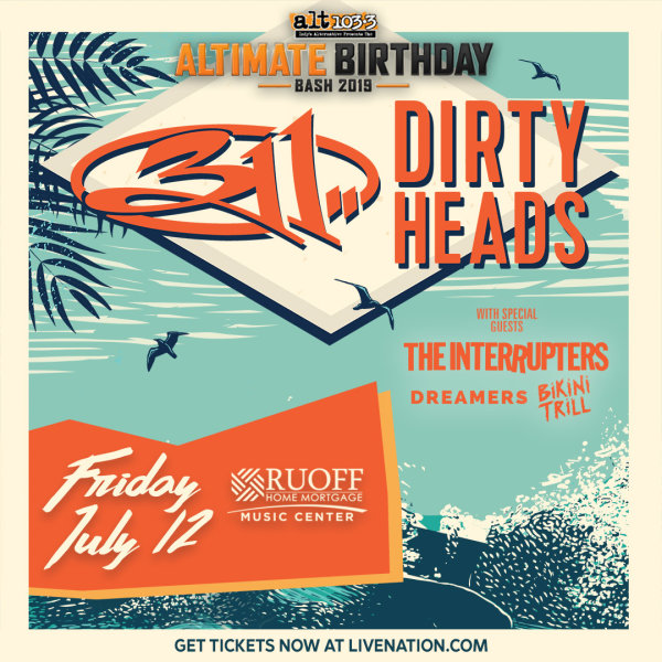 None - Win ALT-imate Birthday Bash Tickets with The Dirty Heads & 311