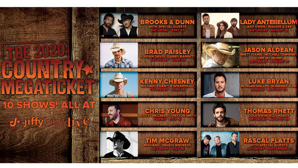 None - Win your 2020 Country Megatickets