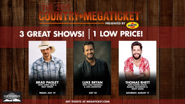 None - The 2019 Country Megaticket | Oak Mountain Amphitheatre