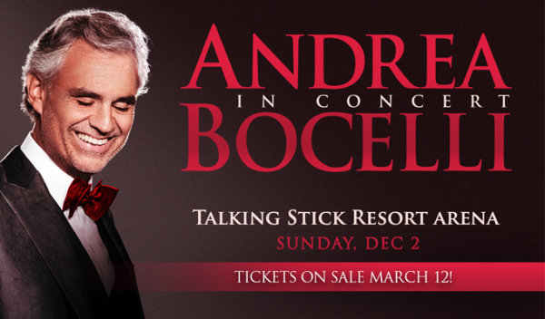 None - Win Tickets to see Andrea Bocelli Tickets