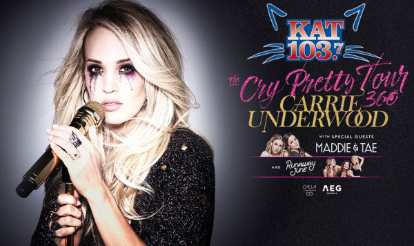 None - Win tickets to see Carrie Underwood with our Kat Concert Call