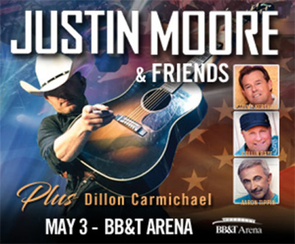 None - Justin Moore and Friends Spring Break Road Trip Online Giveaway!