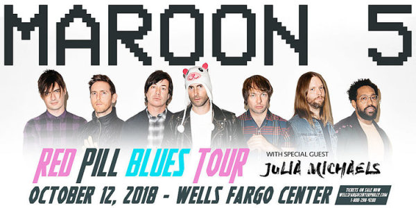 Win Tickets to see Maroon 5 at the Wells Fargo Center!