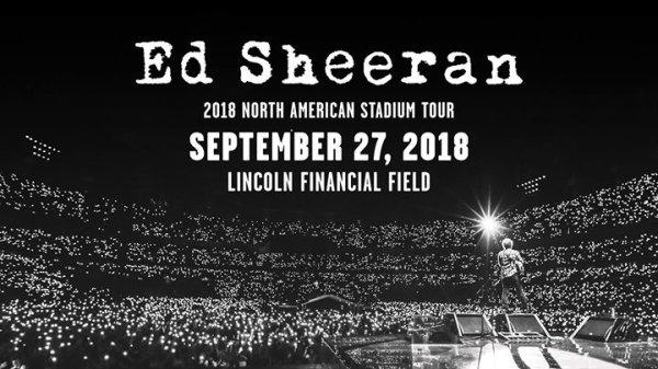 Ed Sheeran at the Lincoln Financial Field