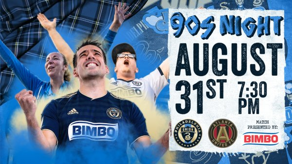 None - Win a Pair of Tickets to Philadelphia Union's 90s Night Game on 8/31!
