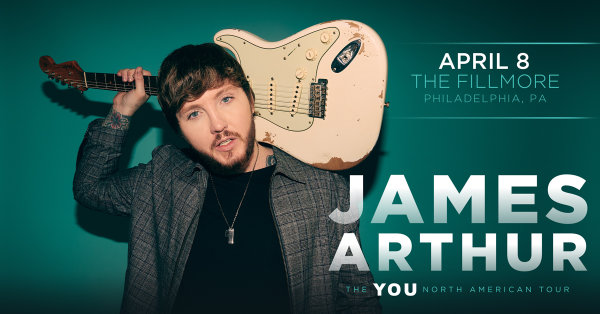 None - Win Tickets To See James Arthur Live @ The Fillmore!