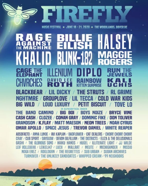 image for Register to Win Passes to the Firefly Music Festival!