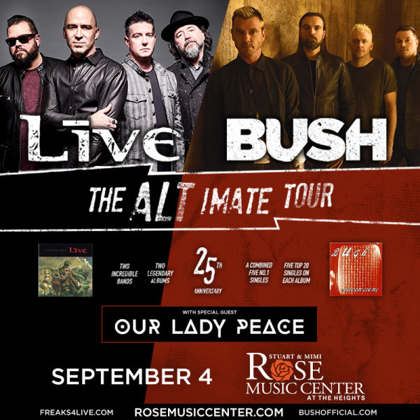 None - +LIVE+ and Bush Ticket Giveaway!