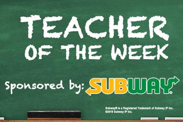 None - 1045 KISS FM & Subway Teacher Of The Week