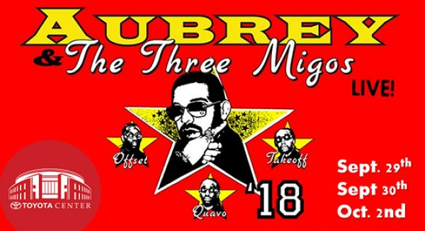 Drake & Migos Sept. 29th, 30th & Oct 2nd @ Toyota Center, Houston
