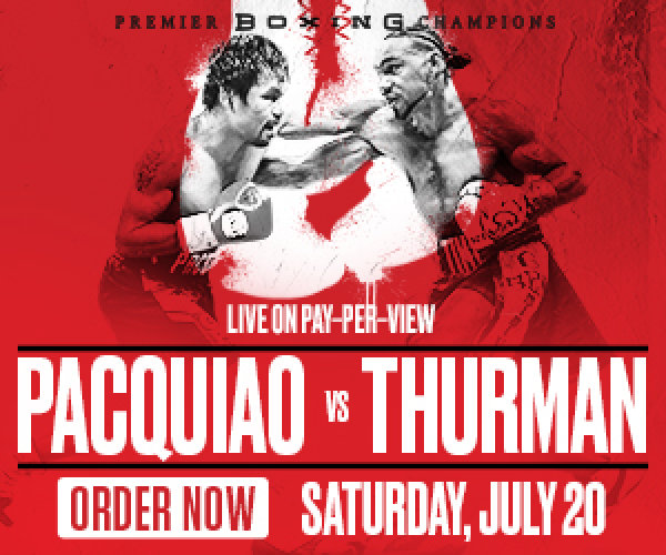None - Enter-to-win a signed boxing glove by Manny Pacquiao and Keith Thurman!