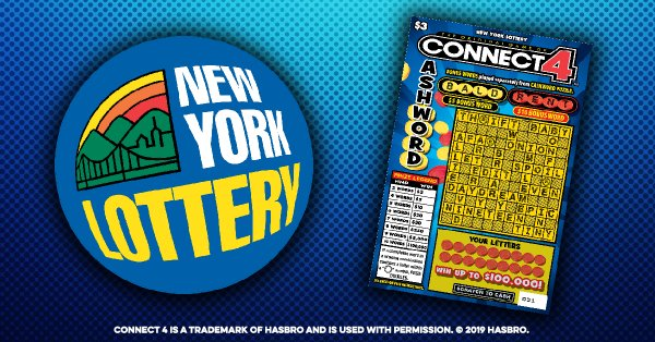 None -  Win CONNECT 4™ CASHWORD Scratch-Off Tickets From The New York Lottery!