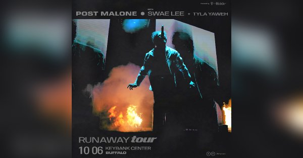None - Win tickets to see Post Malone at the KeyBank Center in Buffalo!
