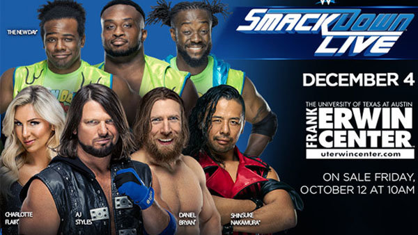 None - Win Tickets To WWE Smackdown Live At The Frank Erwin Center