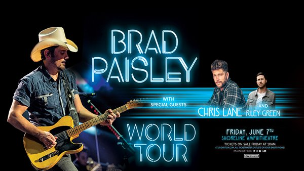 None - Brad Paisley with Chris Lane and Riley Green @ Shoreline!